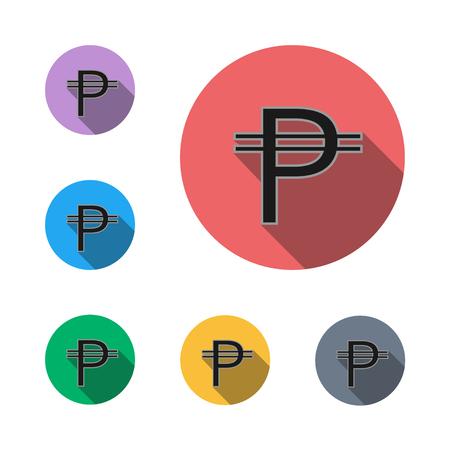 peso, icon button symbol business business man