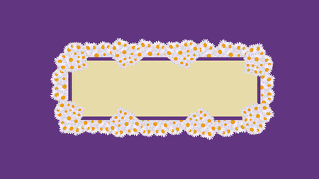 daisy card celebrations purple retro Vector illustration.  イラスト・ベクター素材