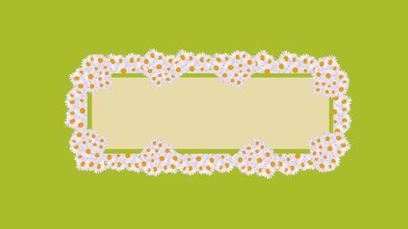 A daisy card celebrations green retro  イラスト・ベクター素材