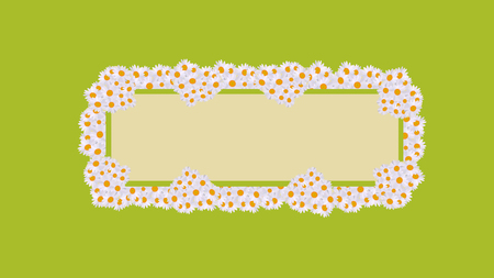 A daisy card celebrations green retro Illustration