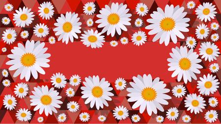 daisy background red