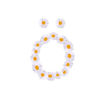 ö letter daisy alphabet  イラスト・ベクター素材