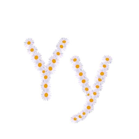 y letter daisy alphabet