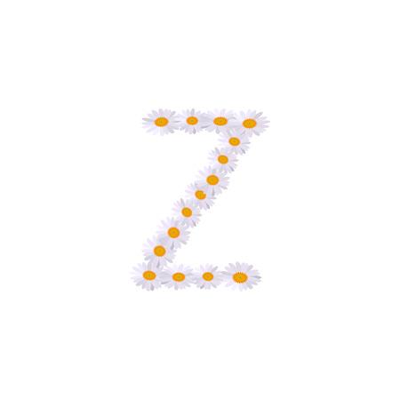 z letter daisy alphabet