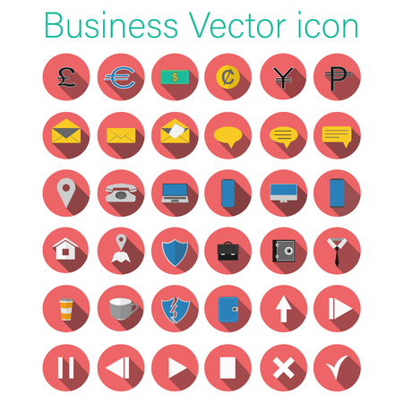 business vector icon set  イラスト・ベクター素材