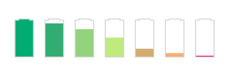 battery charge levels Illustration