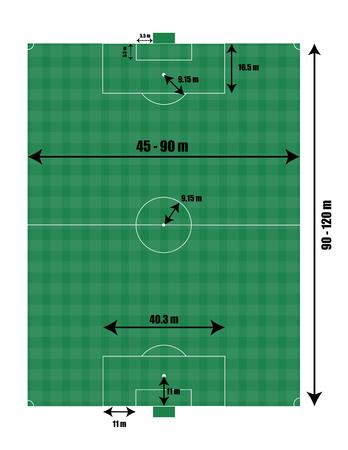 Soccer field size vector