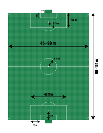 Soccer field size vector