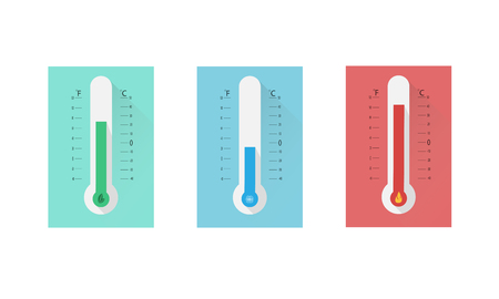 Colored thermometer set