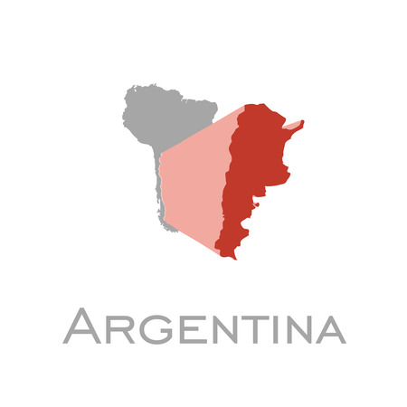 Argentina and south american continent map