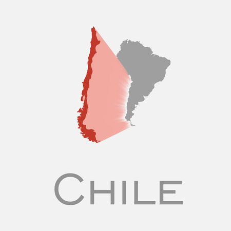 chile and south american continent map