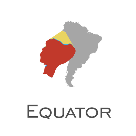 equator and south american continent map