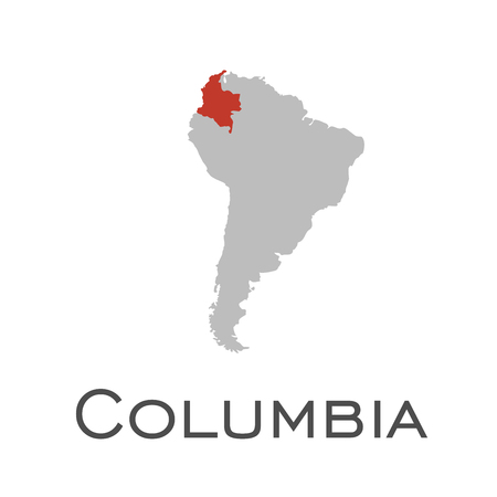 Columbia and south american continent map