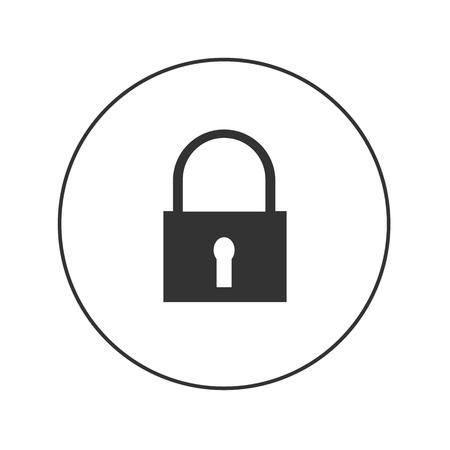 lock modern vector web icon
