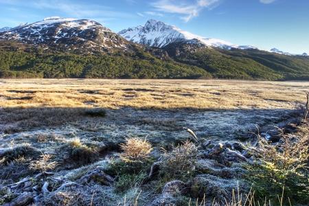 tierra del fuego: Frosty Mountain view in Tierra del Fuego Argentina