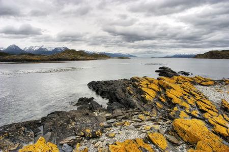 fuego: Beagle Channel view in Tierra del Fuego Patagonia Stock Photo