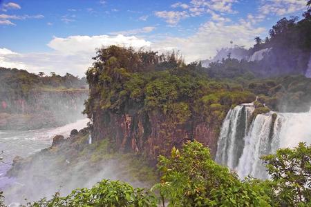 spectacular: Spectacular Iguazu Falls in South America