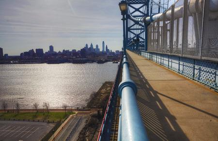 ben franklin: Philadelphia from the Ben Franklin Bridge Editorial