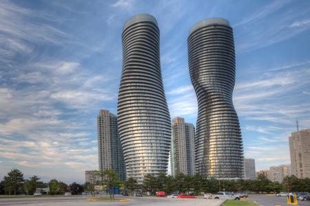 De absolute wereldtop, condominiums in Mississauga, Canada Redactioneel