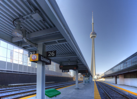 railway transportation: A view of the rail lines in downtown Toronto