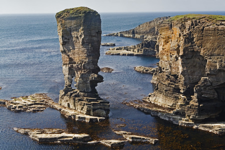 The Stacks of Yesnaby in Orkney, Scotland Stock Photo