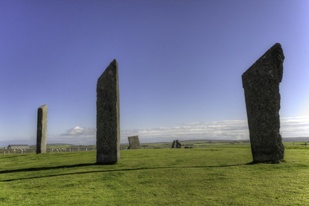 obelisk stone: The Standing Stones of Stenness in Orkney