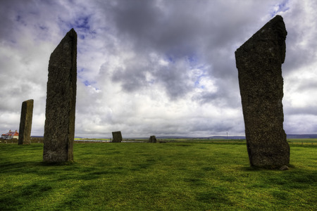 The Standing Stones of Stenness, Orkney Stok Fotoğraf
