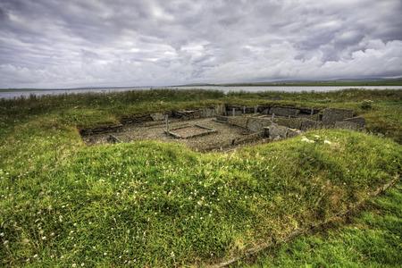 settlement: The Barnhouse neolithic Settlement, Orkney Stock Photo