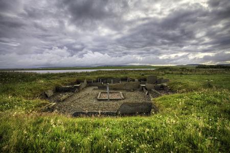 neolithic: The Barnhouse neolithic Settlement in Orkney Stock Photo