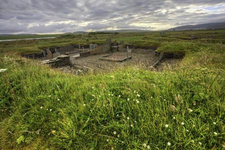 The Barnhouse neolithic Settlement in Orkney, Scotland