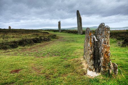 timelapse: The Ring of Brodgar in Orkney at twilight Stock Photo