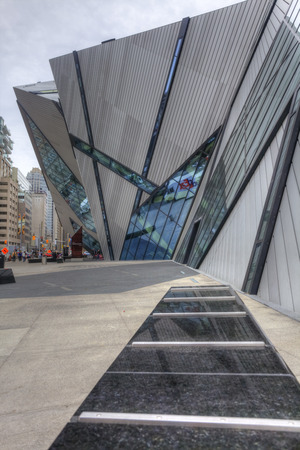 Vertical of The Crystal at the Royal Ontario Museum, Toronto