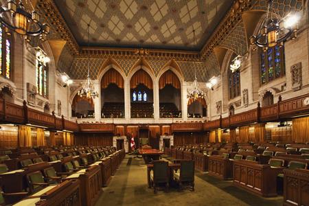 Binnenlandse mening van de Canada Lagerhuis van het Parlement, Ottawa Redactioneel
