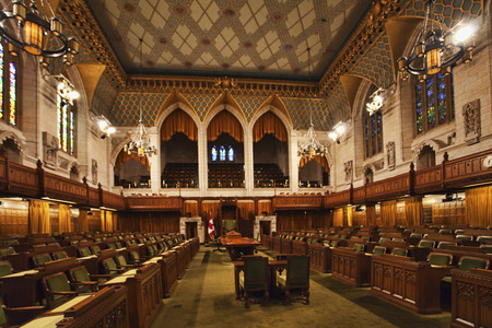 the parliament: Interior view of the Canada Commons of Parliament, Ottawa