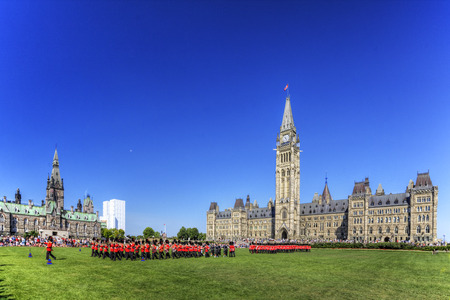 ceremonial: The ceremonial Changing of the Guard, Ottawa, Canada