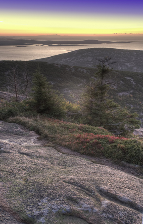 Vertical of Sunrise from Cadillac Mountain, Maine