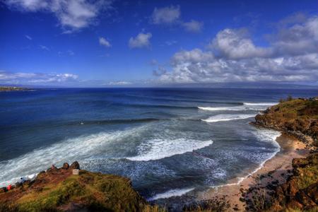 Honolua Bay, a great surfing spot in Hawaii