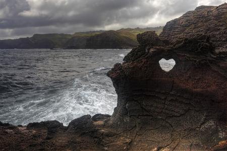 orificio nasal: La forma del corazón en Nakalele en Hawai