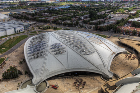 A view of the Biodome in Montreal Editorial