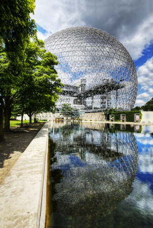 biosphere: A vertical view of the Biosphere in Montreal