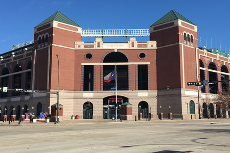 city park: Globe Life Park, home to the Texas Rangers of the MLB
