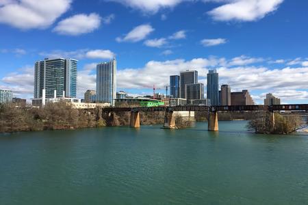 Austin, Texas, skyline on a sunny day Stock Photo