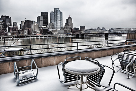 allegheny: A Cold lunch at Pittsburgh waterfront