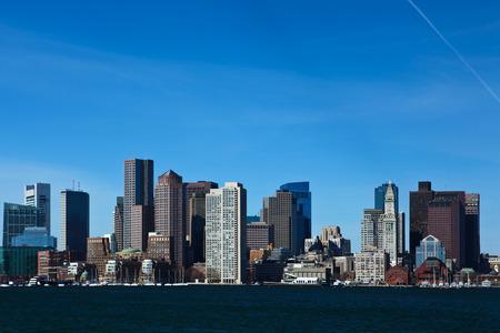 The Boston, Massachusetts city center on a sunny day