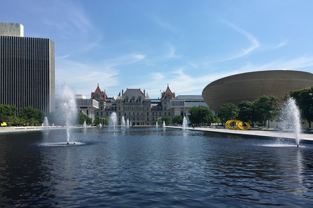 The State government  buildings in Albany, New York