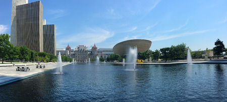 A Panorama of State government  buildings in Albany, New York