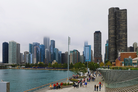A View of Chicago city center from Navy Pier