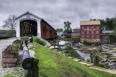 The Bridgeton Covered Bridge in Indiana