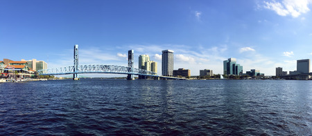 A Panorama of Jacksonville, Florida and the St. Johns River