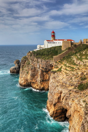 The Cape St . Vincent Lighthouse in Portugal